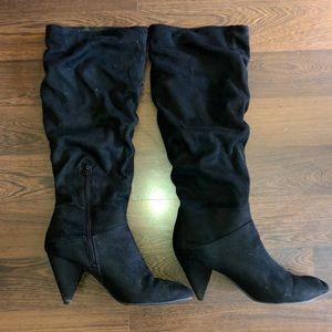 Express | Black Knee High Boots